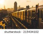 Subway Train In New York At...