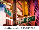 the intersection of 42nd street ... | Shutterstock . vector #215436226