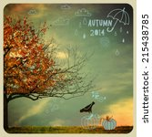 fall tree poster   instagram... | Shutterstock .eps vector #215438785