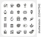 food and beverage icons set | Shutterstock .eps vector #215447542