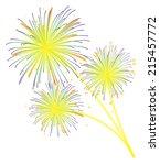 fireworks display celebration... | Shutterstock .eps vector #215457772