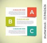 3d modern infographics design... | Shutterstock .eps vector #215462626