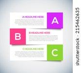 3d modern infographics design...   Shutterstock .eps vector #215462635