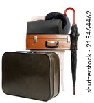 Vintage Old Travel Suitcase And ...