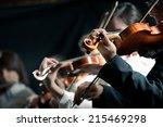 Symphony Orchestra Violinists...