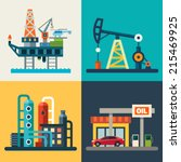 oil recovery  oil rig  a gas... | Shutterstock .eps vector #215469925