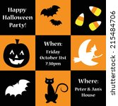 happy halloween party invitation | Shutterstock . vector #215484706