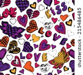 colorful seamless pattern with... | Shutterstock .eps vector #215486485