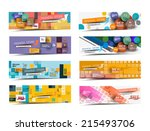 collection of fashion sale... | Shutterstock .eps vector #215493706