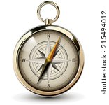 compass with windrose. vector... | Shutterstock .eps vector #215494012