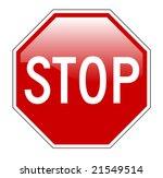 vector illustration of stop...   Shutterstock .eps vector #21549514