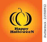 halloween pumpkin | Shutterstock .eps vector #215500912