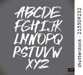 handwritten calligraphic...   Shutterstock .eps vector #215509252