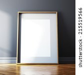 blank picture frame and... | Shutterstock . vector #215519566