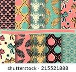 set of abstract vector... | Shutterstock .eps vector #215521888