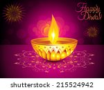 abstract artistic diwali... | Shutterstock .eps vector #215524942