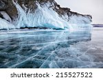 Rocks Frozen Into The Ice Of...