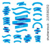 vector vintage ribbons set | Shutterstock .eps vector #215530252