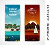 tropical island best romantic... | Shutterstock .eps vector #215533765