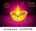 abstract artistic diwali... | Shutterstock .eps vector #215535598