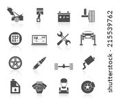auto car service icons black... | Shutterstock .eps vector #215539762