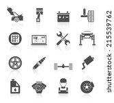 auto car service icons black... | Shutterstock .eps vector #215539762