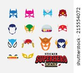 hero mask. face character  ... | Shutterstock .eps vector #215554072