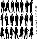 collection of business people... | Shutterstock . vector #21555580