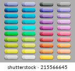 set of colorful glass buttons.... | Shutterstock .eps vector #215566645