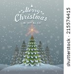 christmas and new year... | Shutterstock .eps vector #215574415