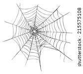 vector spider's web on white... | Shutterstock .eps vector #215575108