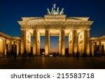 The Floodlit Brandenburg Gate...
