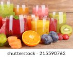 Glasses Of Tasty Fresh Juice ...