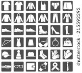 vector set of wear icons | Shutterstock .eps vector #215592292