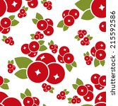 cranberry seamless pattern | Shutterstock .eps vector #215592586