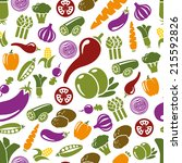 vegetable seamless pattern | Shutterstock .eps vector #215592826