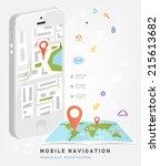 world map. mobile gps... | Shutterstock .eps vector #215613682
