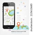 world map. mobile gps... | Shutterstock .eps vector #215613685