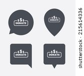 donate sign icon. dollar usd...   Shutterstock .eps vector #215614336