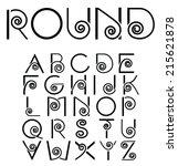 capital alphabet set  with... | Shutterstock .eps vector #215621878