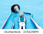 dentistry instruments for tooth ... | Shutterstock . vector #215625895