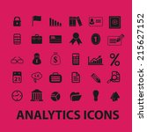 analytics icons  illustrations  ... | Shutterstock .eps vector #215627152
