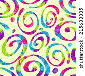 seamless abstract swirl bright... | Shutterstock .eps vector #215633335