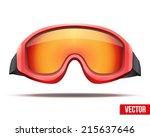 classic red snowboard ski...