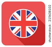 a uk flat flag icon | Shutterstock .eps vector #215638102
