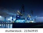 industry at night ijmuiden... | Shutterstock . vector #21563935