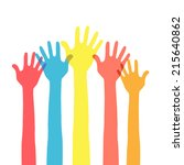 hands in the air | Shutterstock .eps vector #215640862