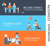 Family parenting children kids people concept flat icons set of parents mother father girl boy son daughter and vector web illustration website click infographics elements