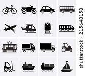 transport icons | Shutterstock .eps vector #215648158