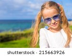 portrait of adorable little... | Shutterstock . vector #215663926